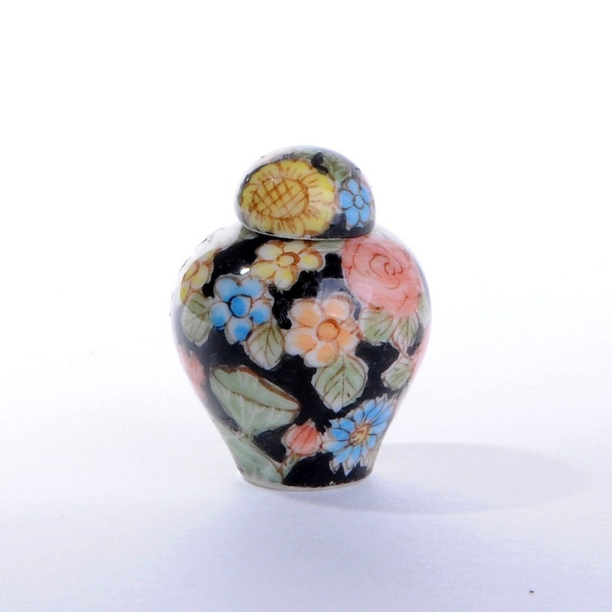 Small covered vase