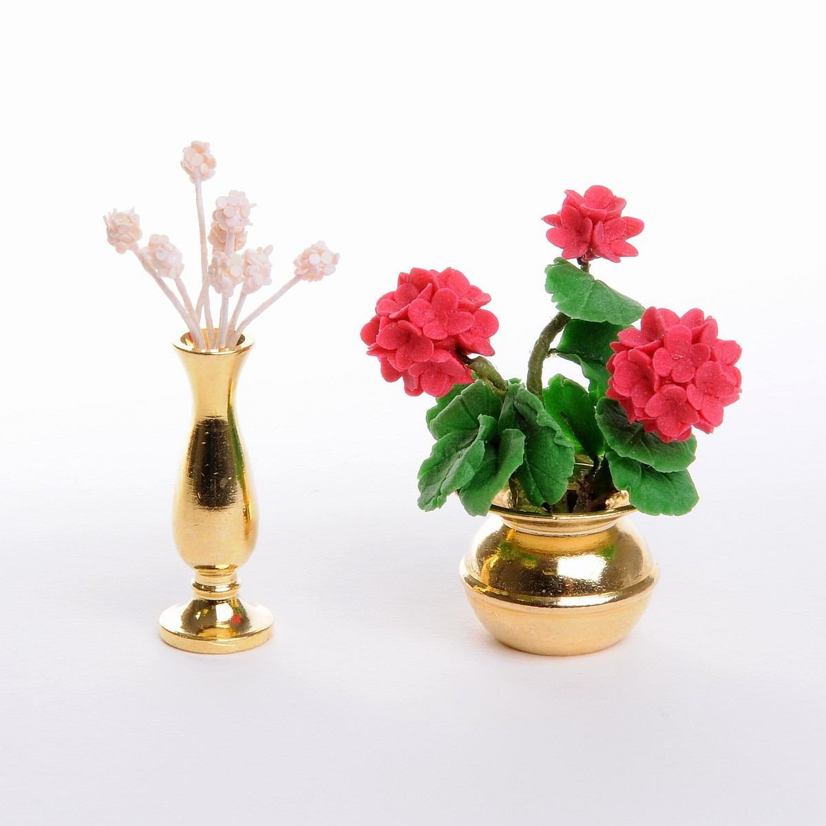 Flower Vase Set made of brass  sc 1 st  Mini Mundus & Flower Vase Set made of brass-17190