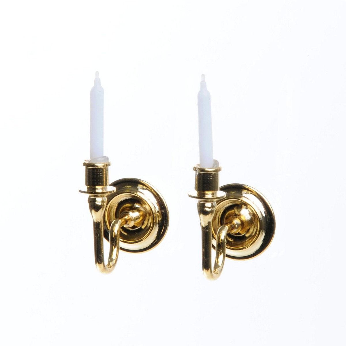 kerzen wandhalter messing vergoldet 17220. Black Bedroom Furniture Sets. Home Design Ideas