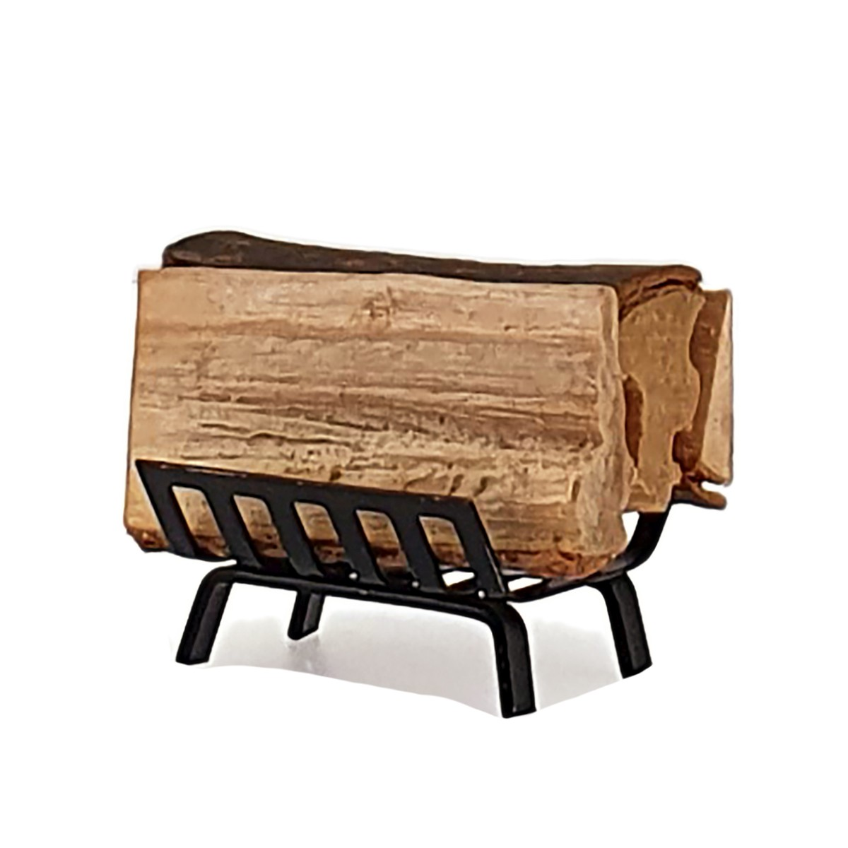 Fireplace wood basket with logs