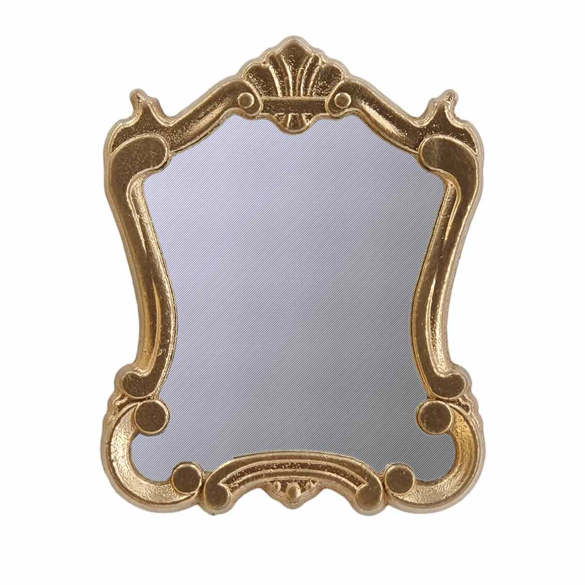 Großer antiker Spiegel, Kunststoffrahmen, goldlackiert