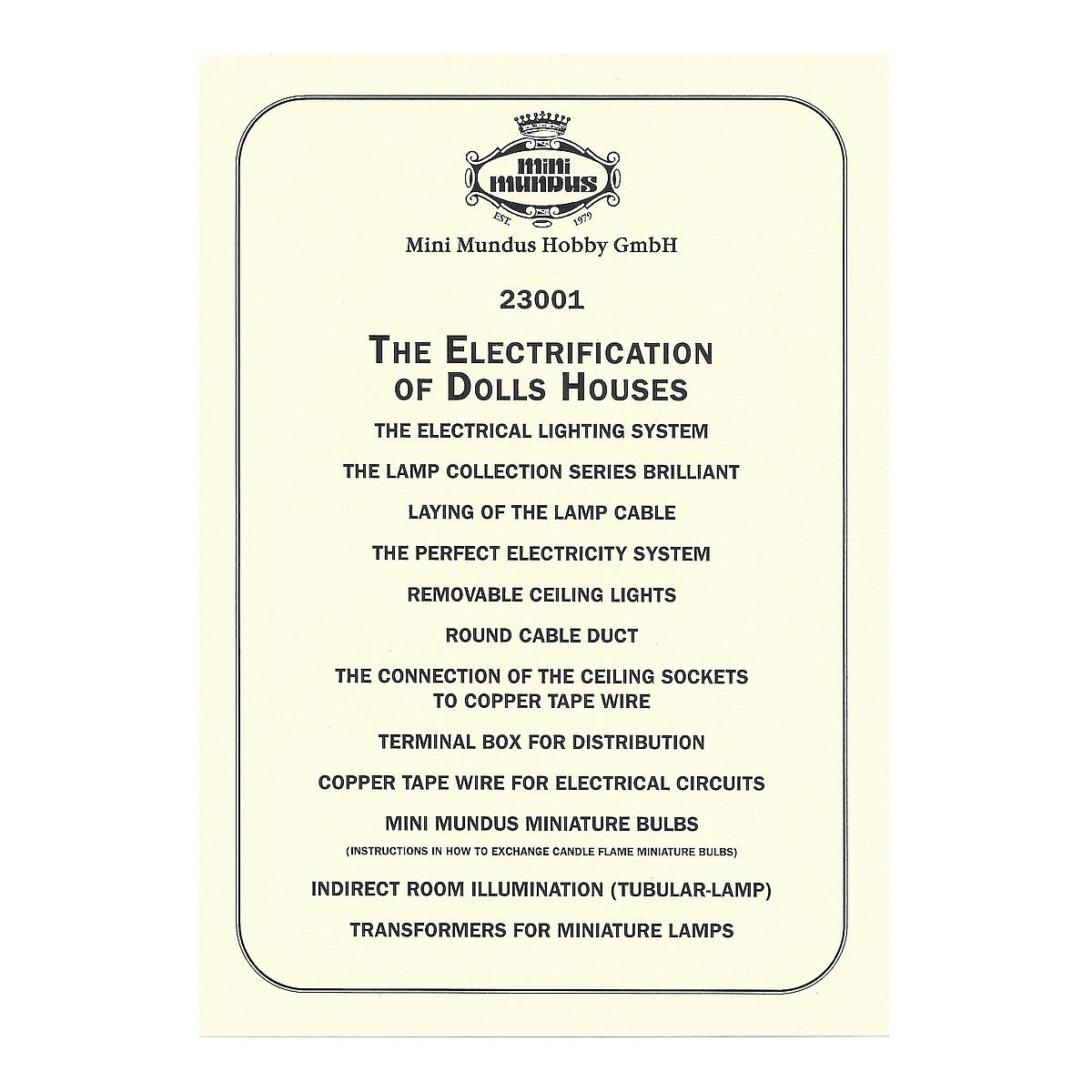 Instructions - Electrical installation - ENGLISH