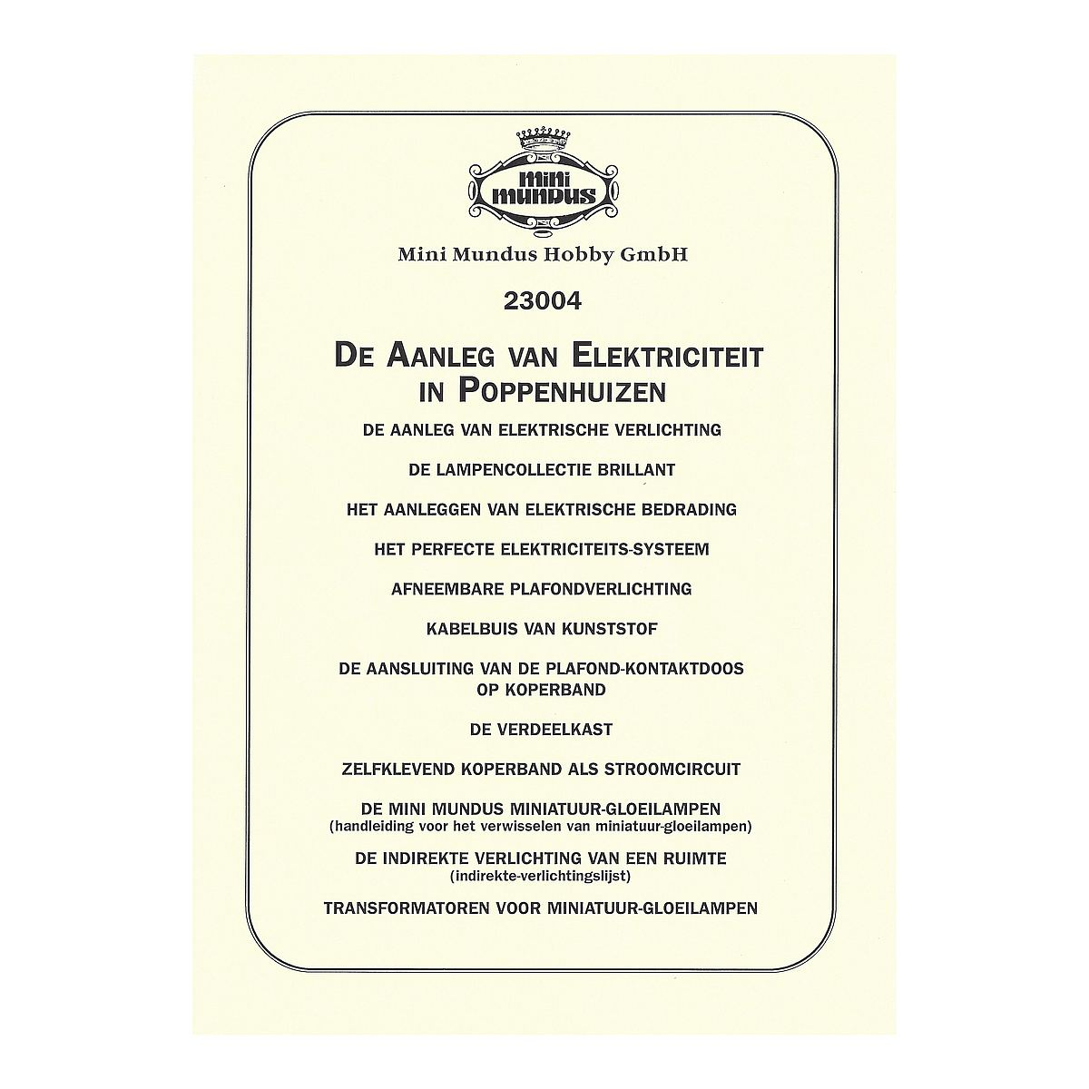 instructions electrical installation dutch
