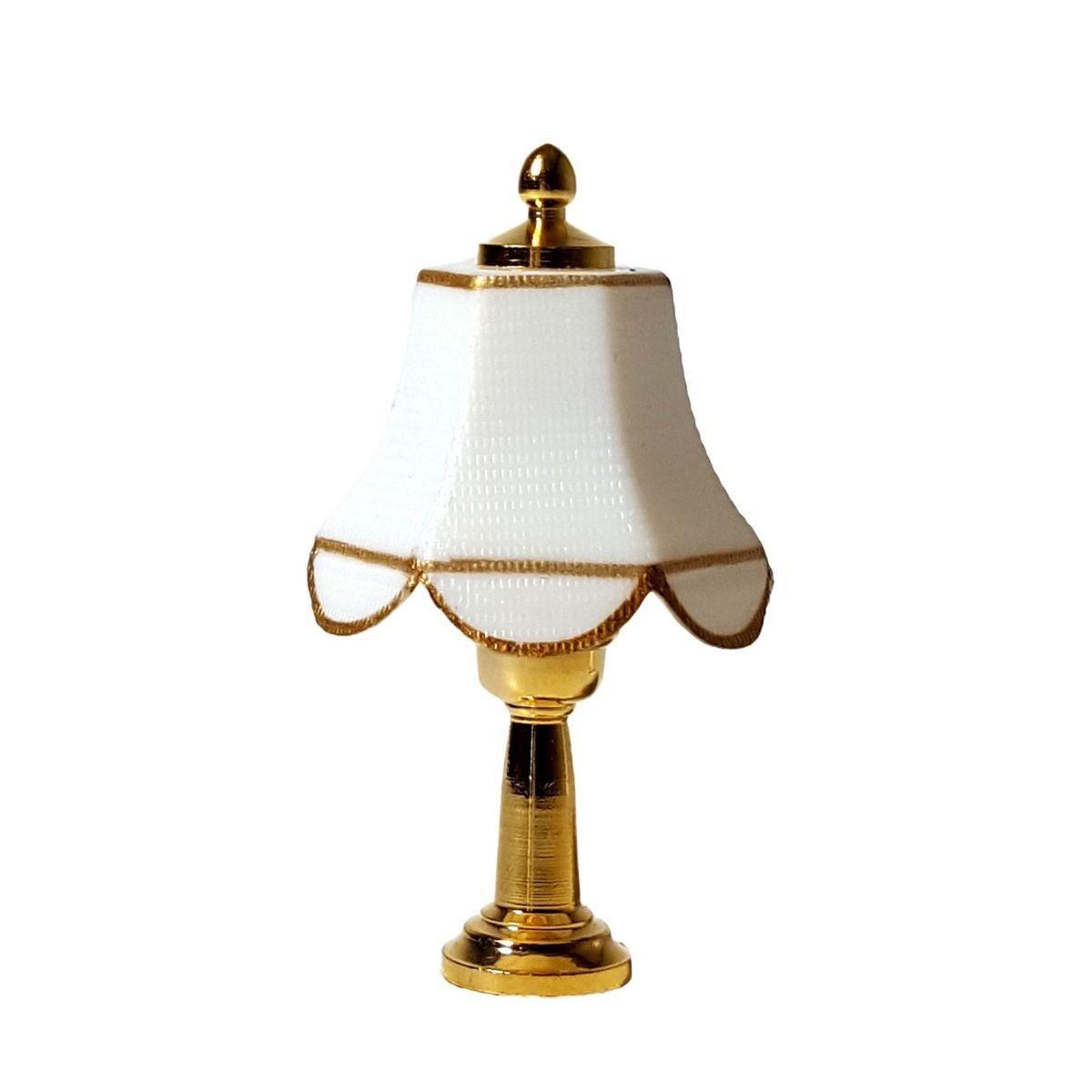 tischlampe mit wei em schirm minilux 25970. Black Bedroom Furniture Sets. Home Design Ideas
