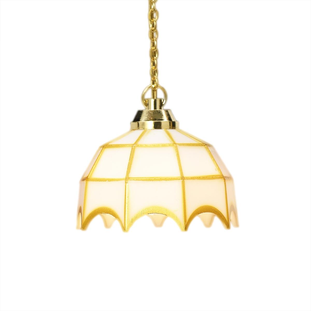 LED battery Tiffany hanging ceiling lamp, MiniLux