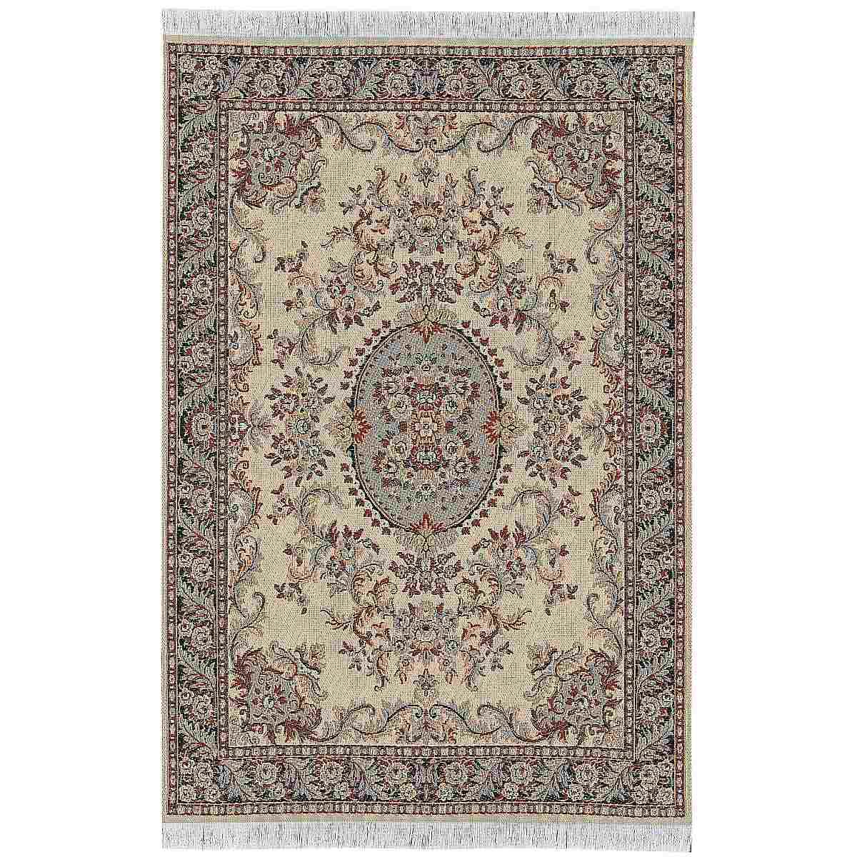 KASCHMIR Orient Teppich, gewebt, 16x26