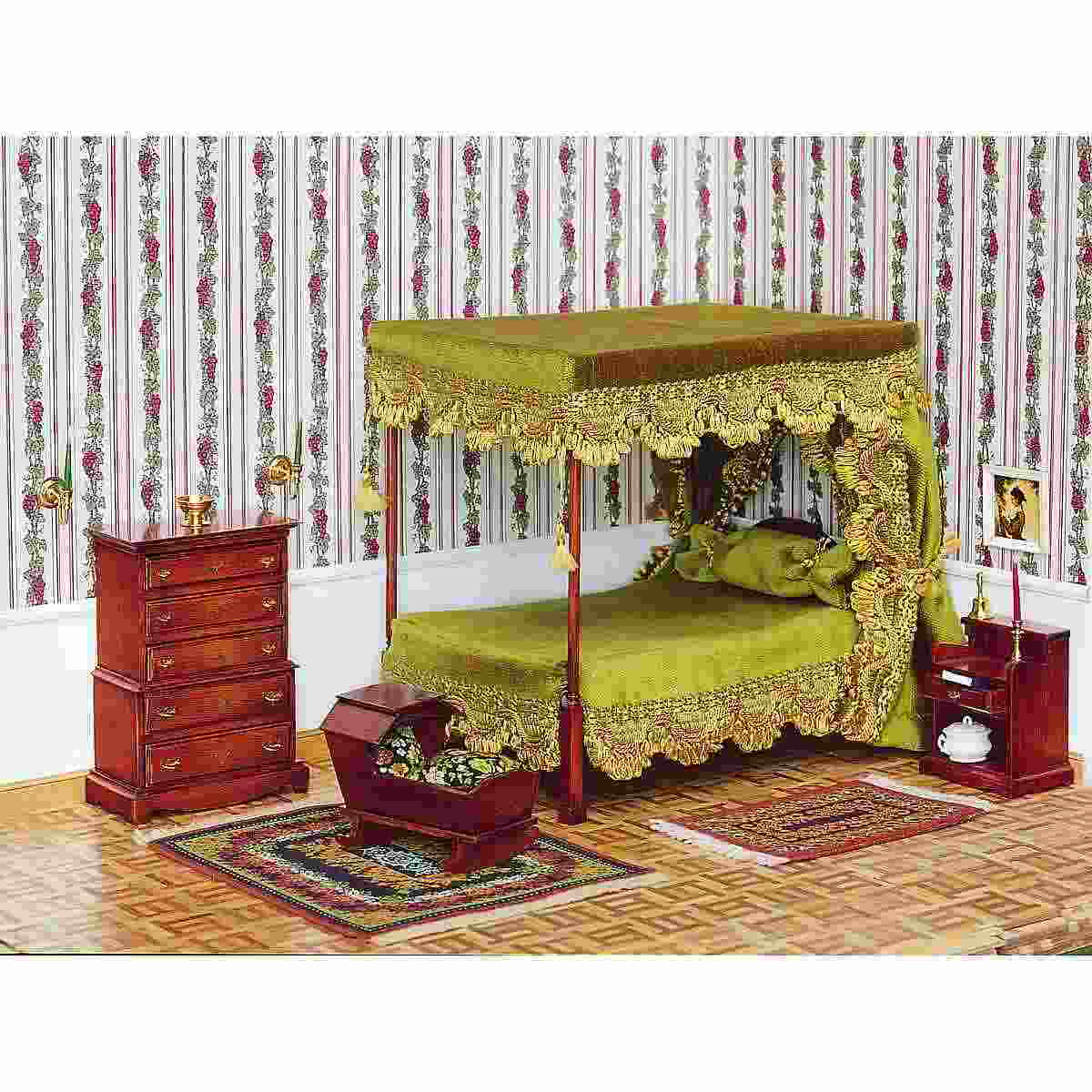 chippendale baldachin doppel bett 40014. Black Bedroom Furniture Sets. Home Design Ideas
