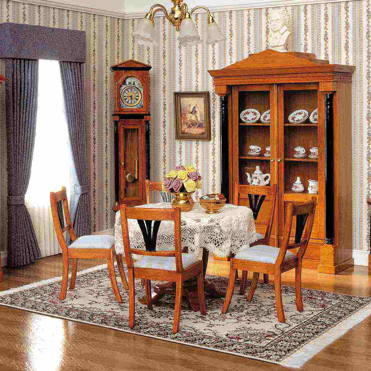 biedermeier tisch 40094. Black Bedroom Furniture Sets. Home Design Ideas