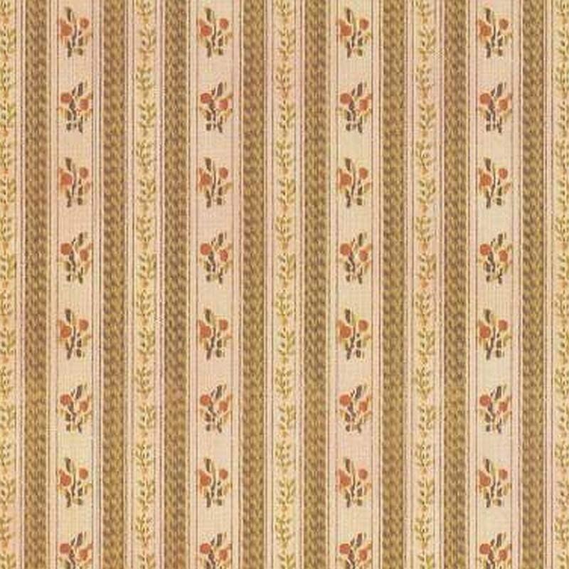 Flower-striped wallpaper