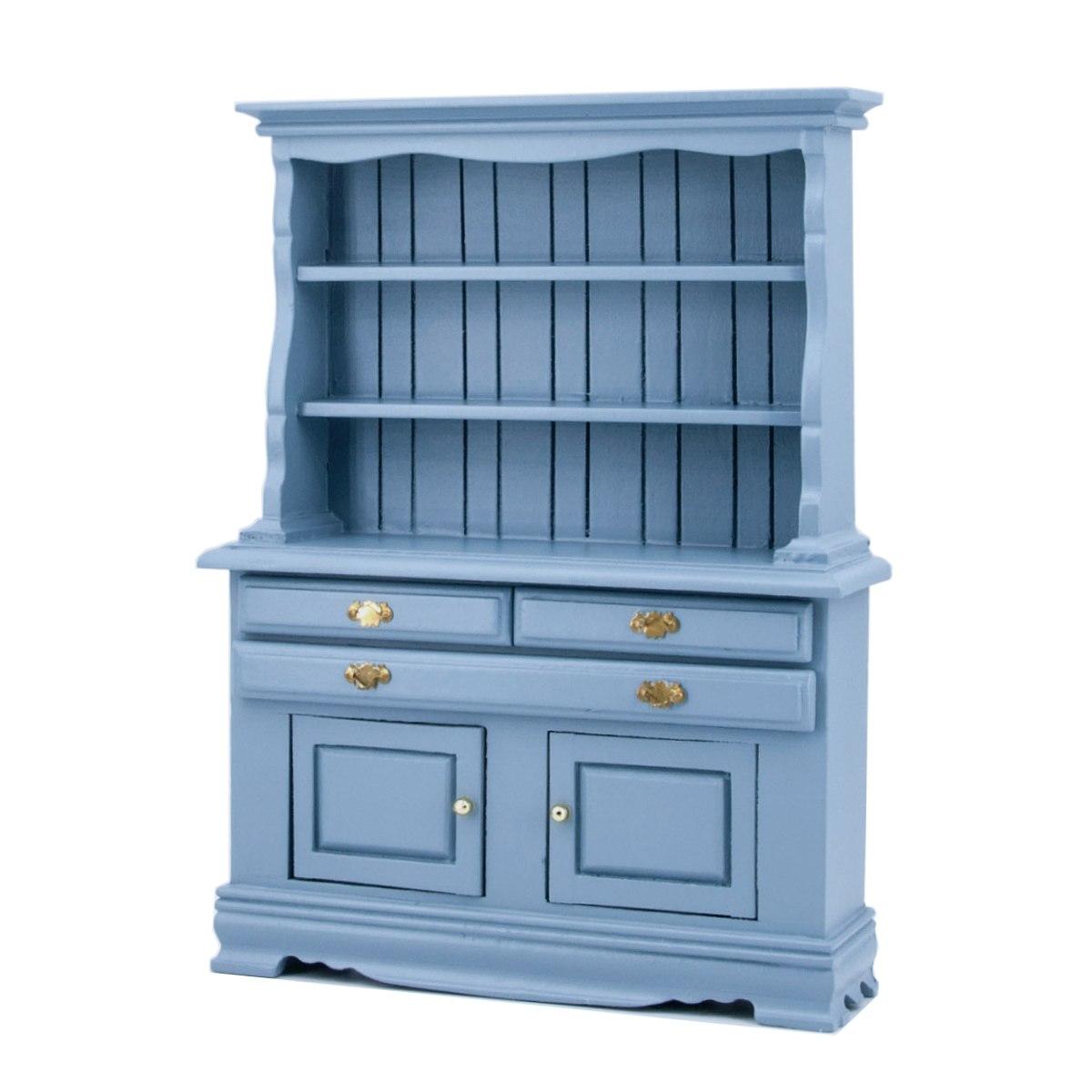 Küchenschrank, blau-41295
