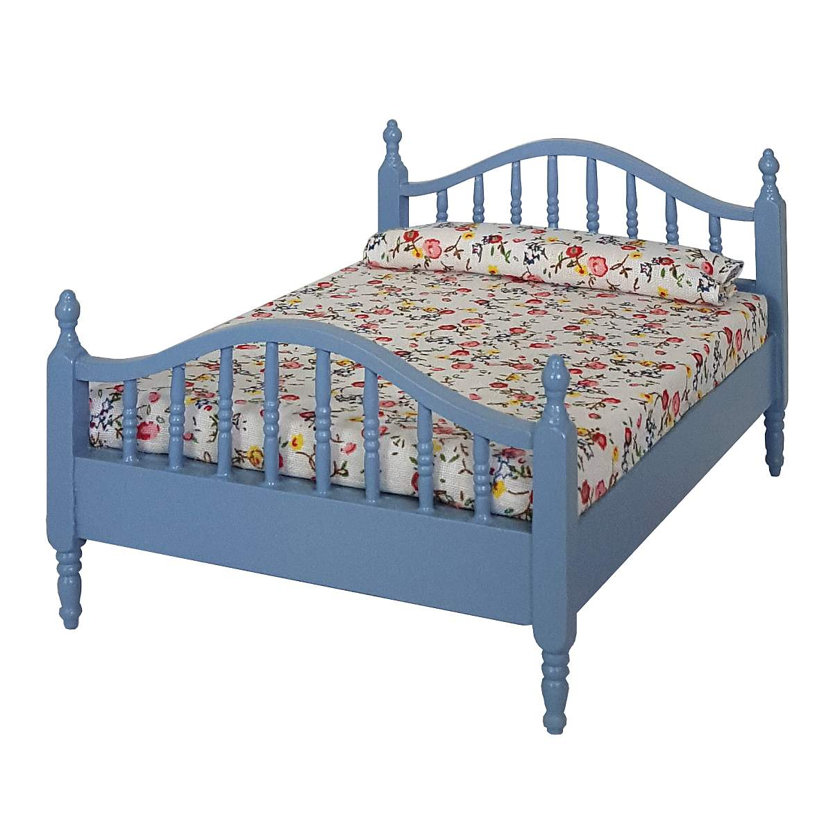 Double bed, blue