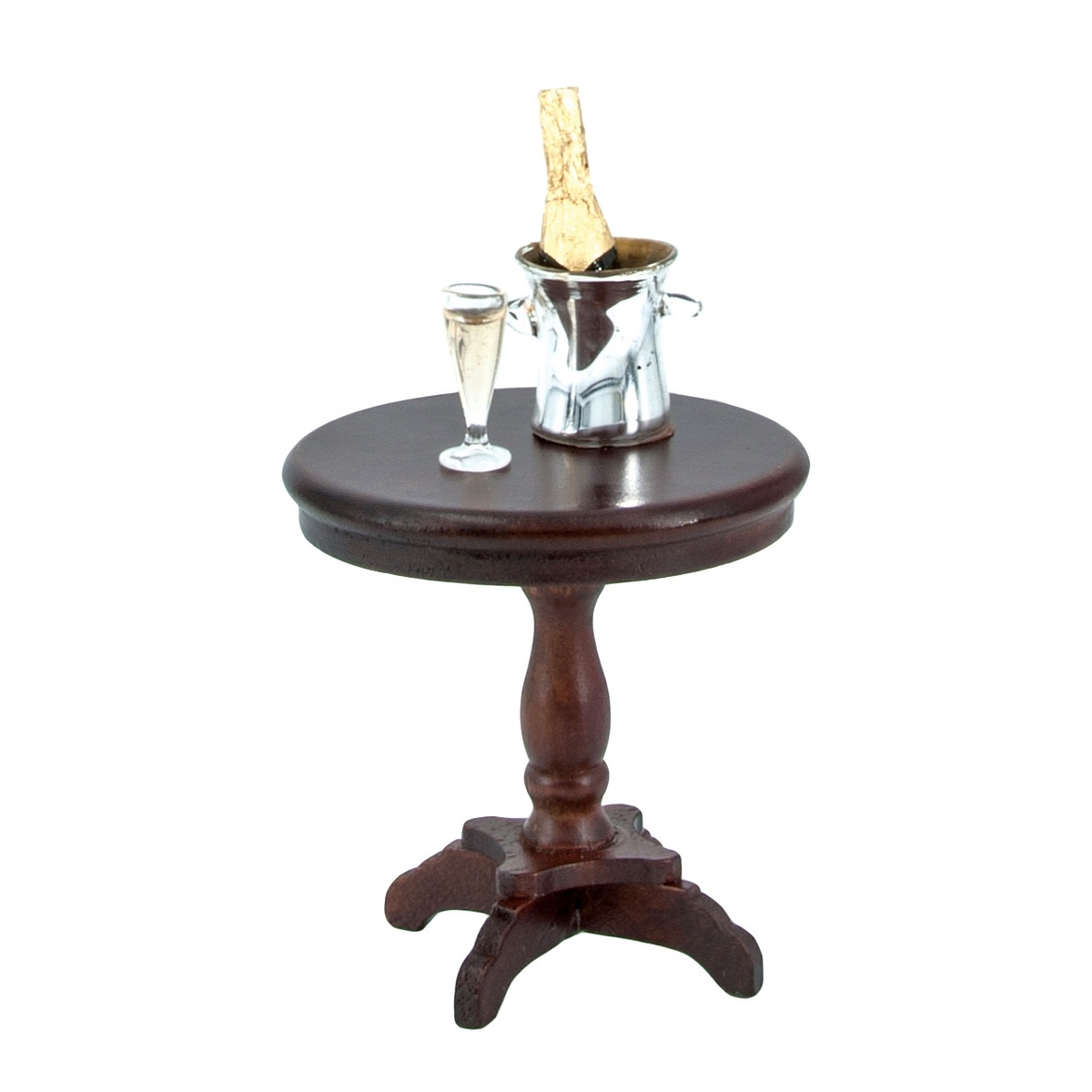 Small Round Table Mahogany 41820