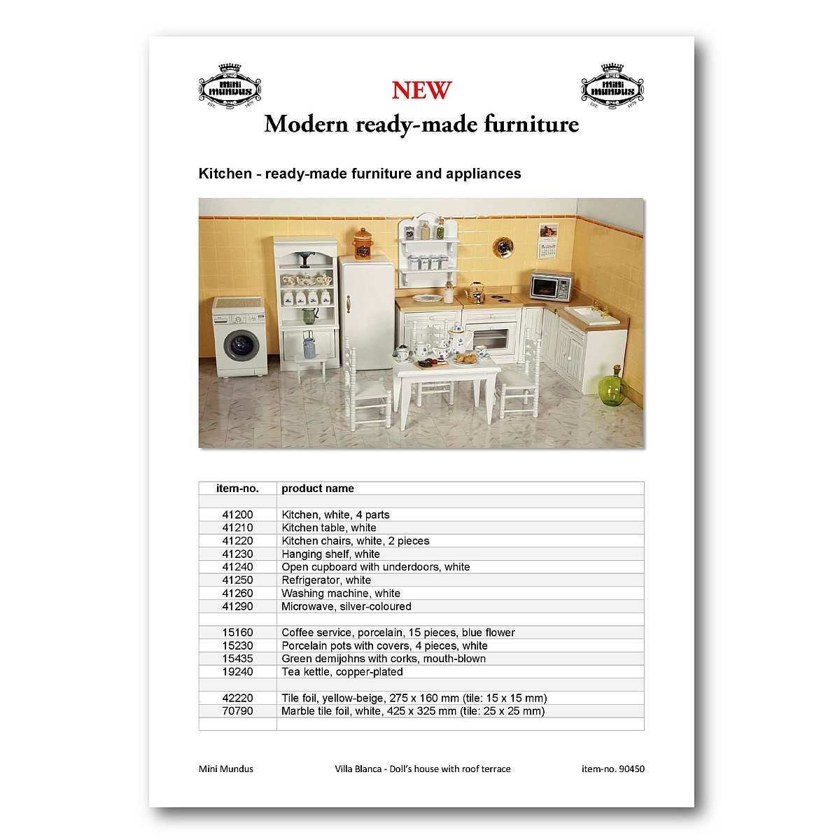 "ONLINE Catalogue: ""Ready-made Furniture"""