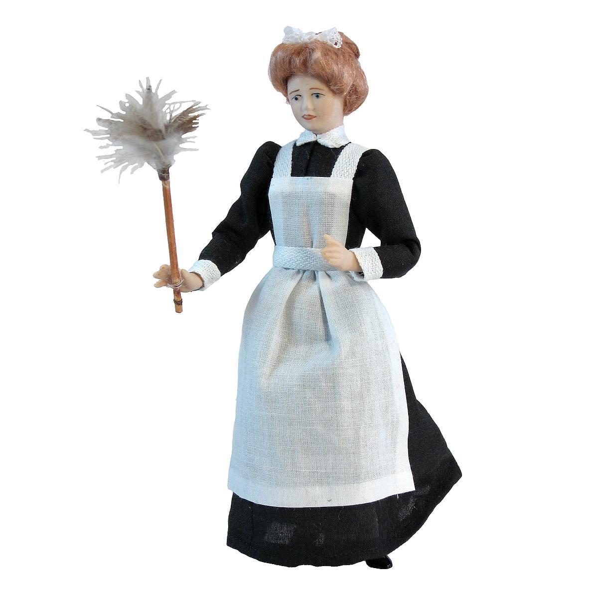 Hausmädchen mit Staubwedel