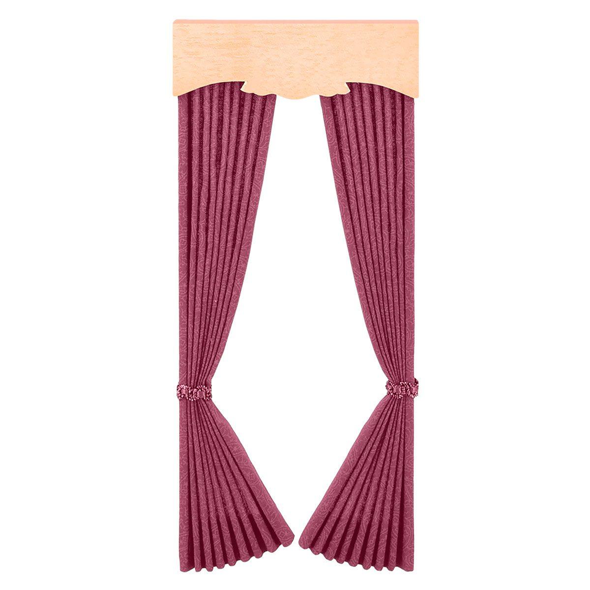 Fenster-Vorhang, altrosa