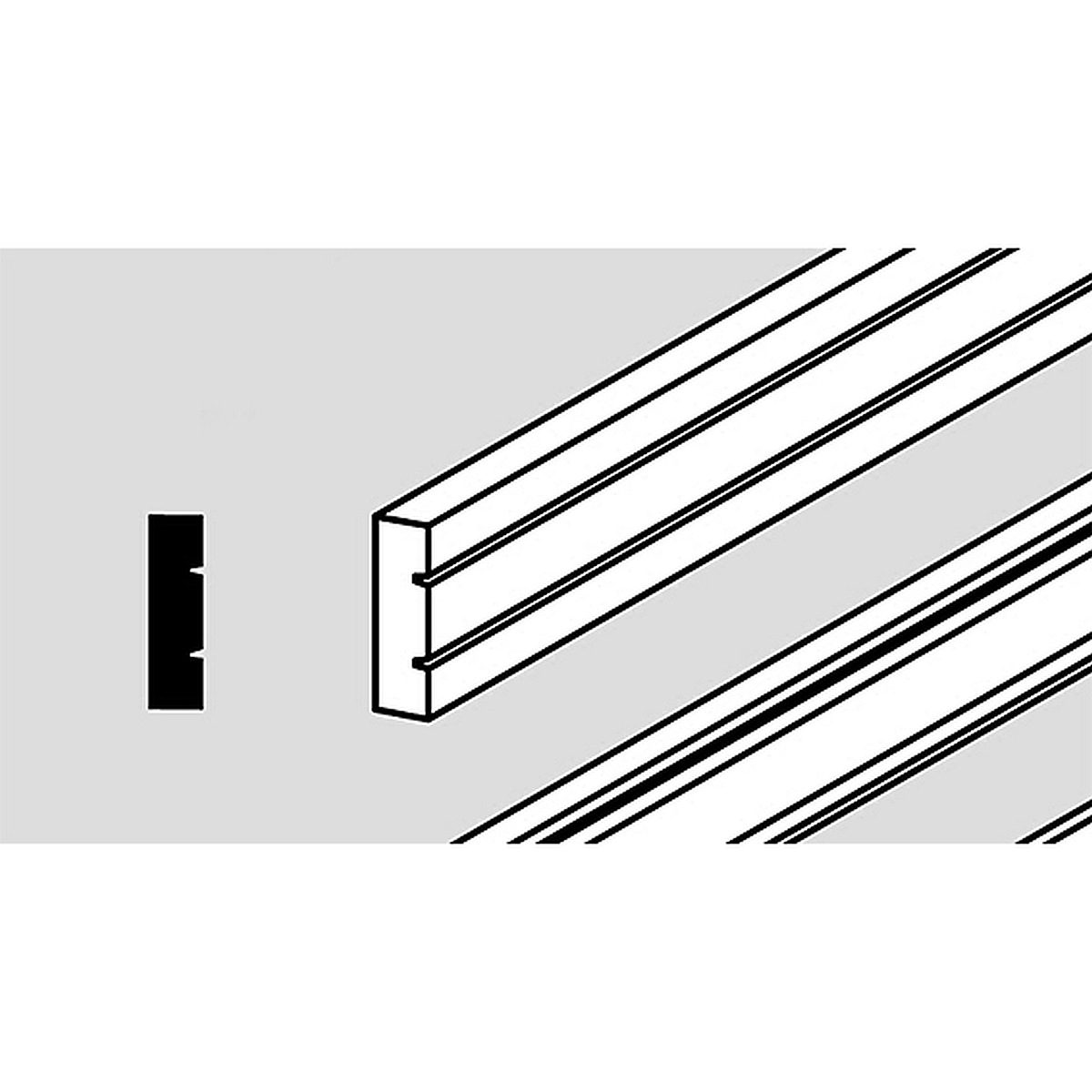 Cover strips for edge cladding, white, 12 pieces
