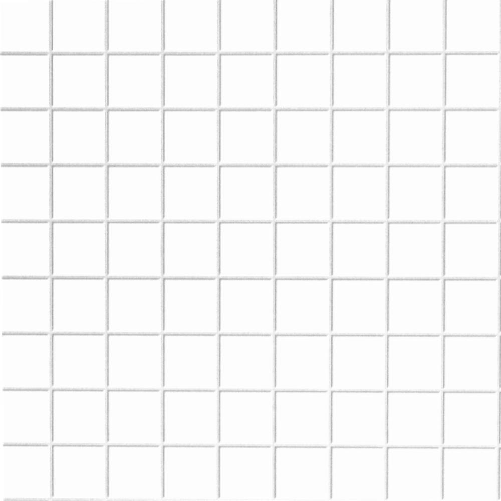 Weiße Fliesen, quadratisch, geprägt