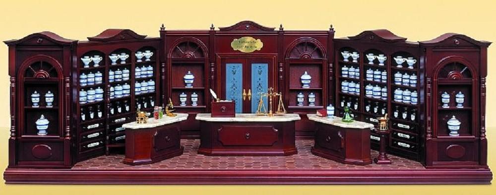 Prefabricated pharmacy furniture