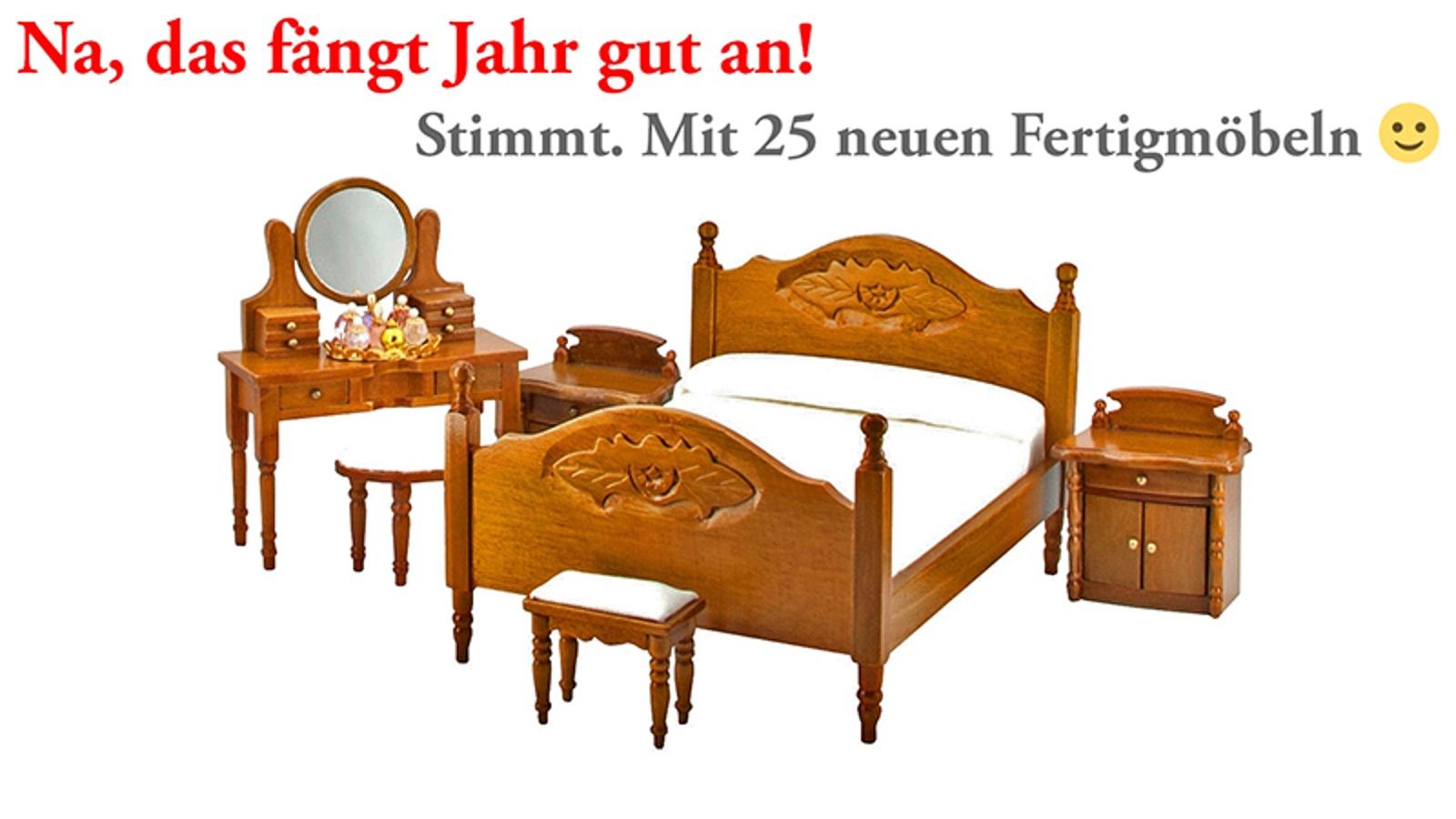 Das neue Schlafzimmer (# 41700) in Walnuss - inkl. Miniaturen!
