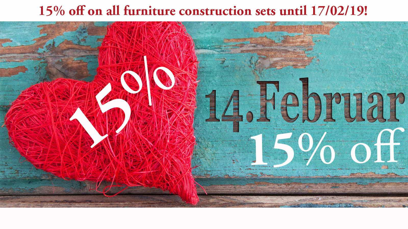 Our Valentine's Day gift for you: Furniture construction sets to fall in love with!