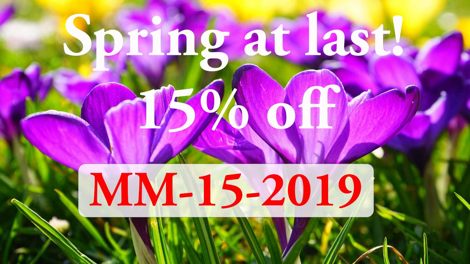Valid until 24.03.19 - All products except dolls & gift vouchers.