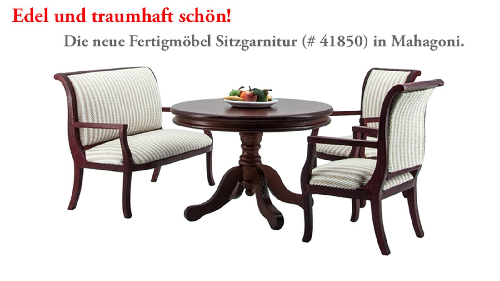 Ebenfalls neu: Der passende runde Tisch (# 41810)