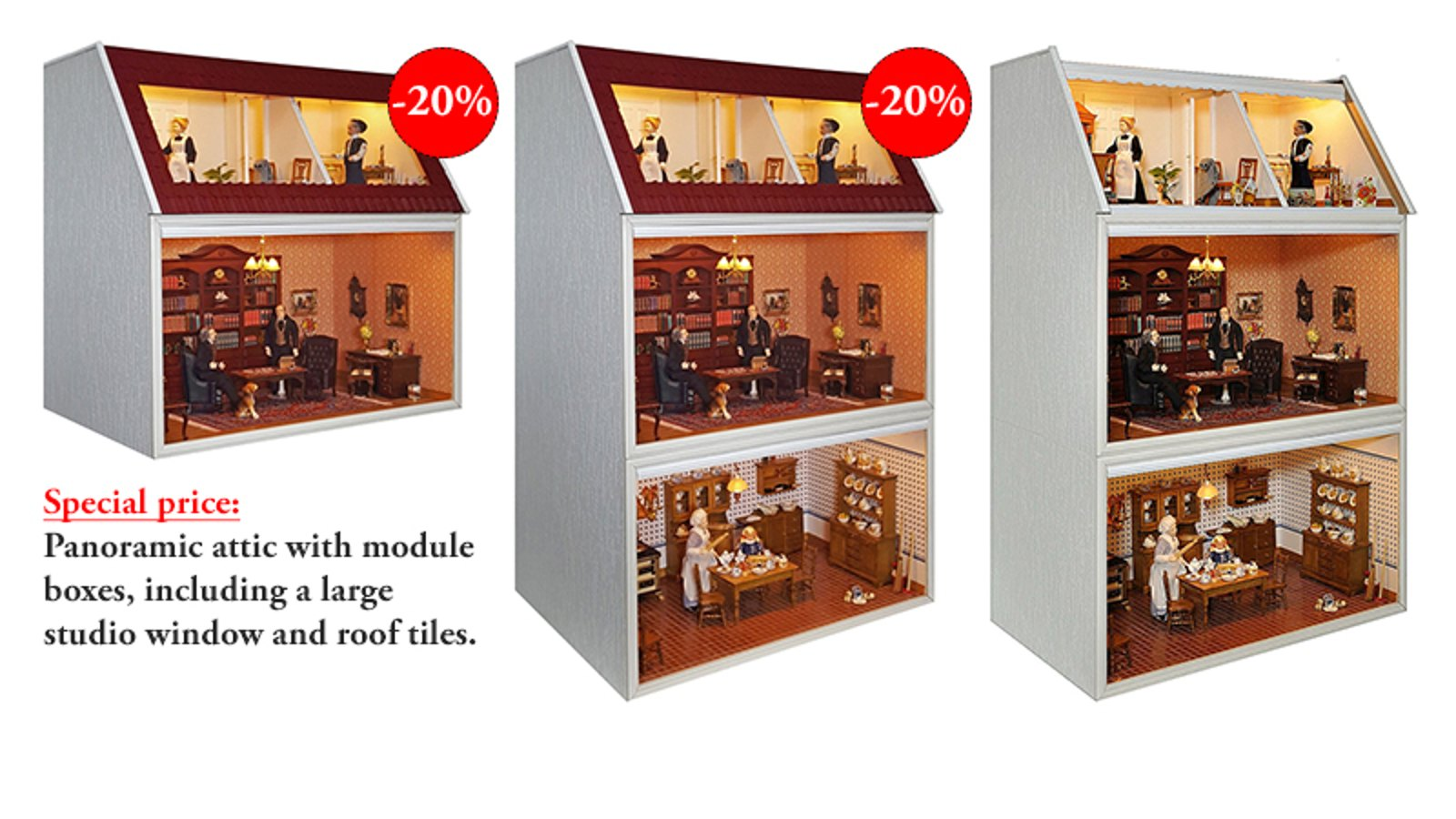 The attractive panoramic top floor with the removable studio window!
