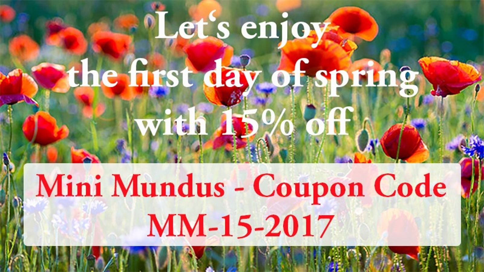 Valid until 26 March 2017 - Voucher can be used several times - No minimum order