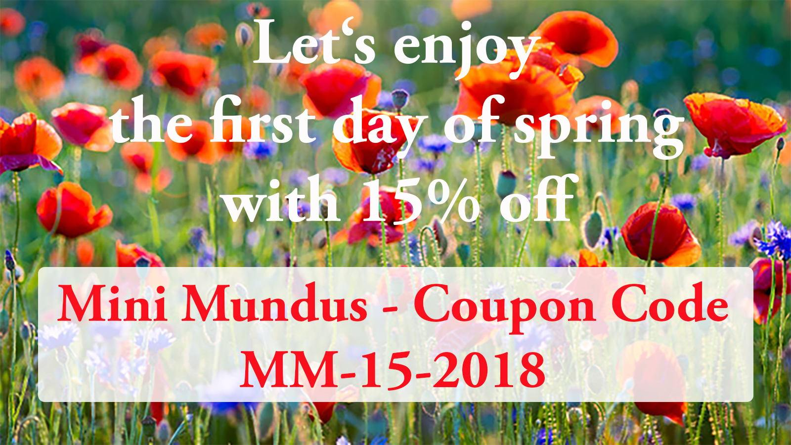 Valid until 25/03/18 on ALL products, except for dolls and gift vouchers!