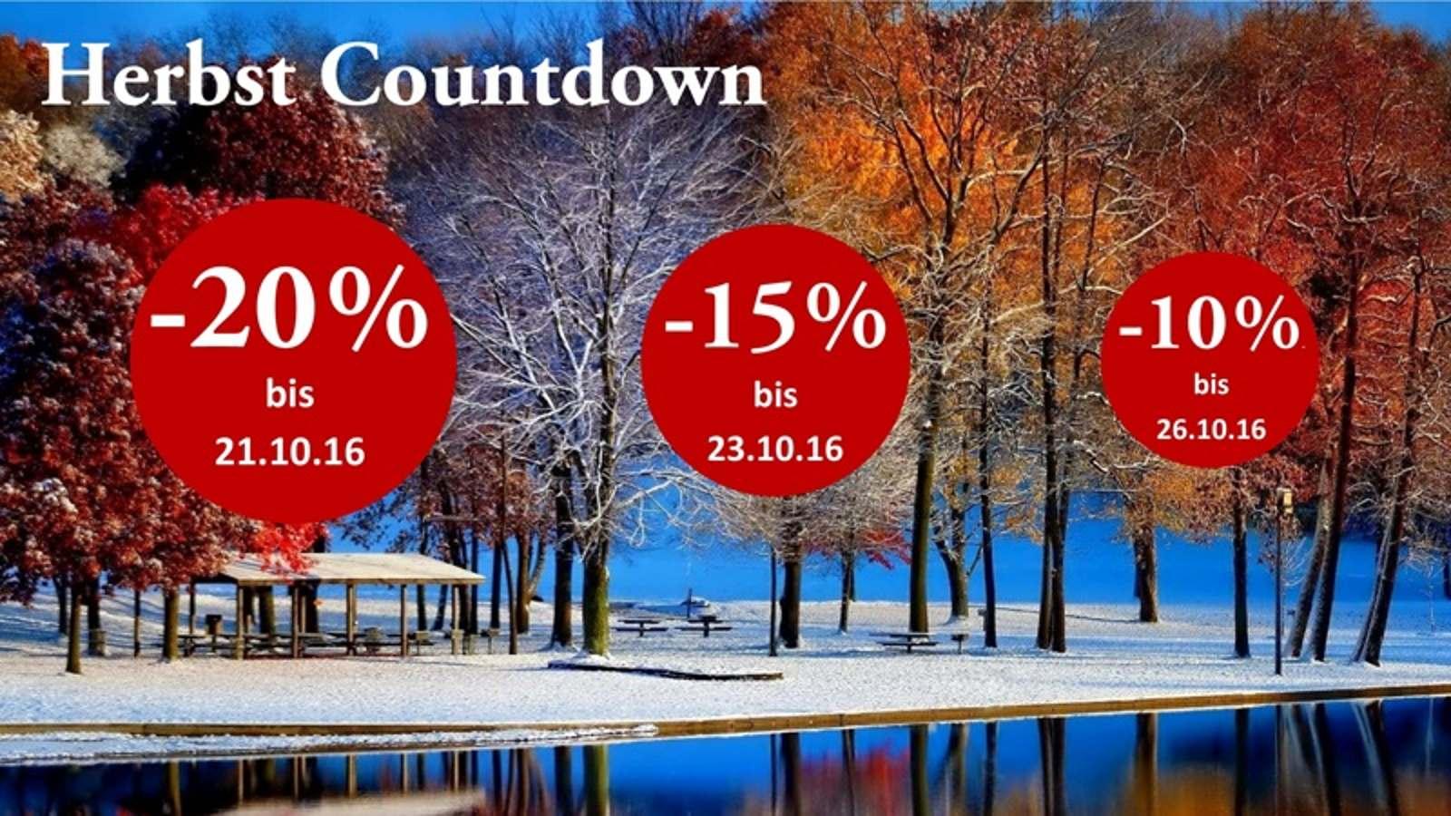 20% - 15% - 10% - Schnell sein, lohnt sich!