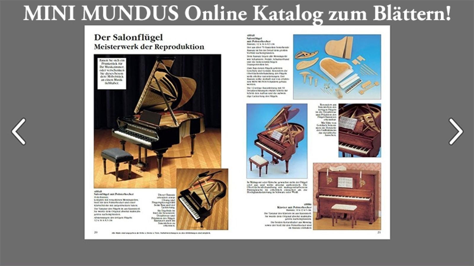 Hier geht es per KLICK zum neuen MINI MUNDUS Online Katalog!