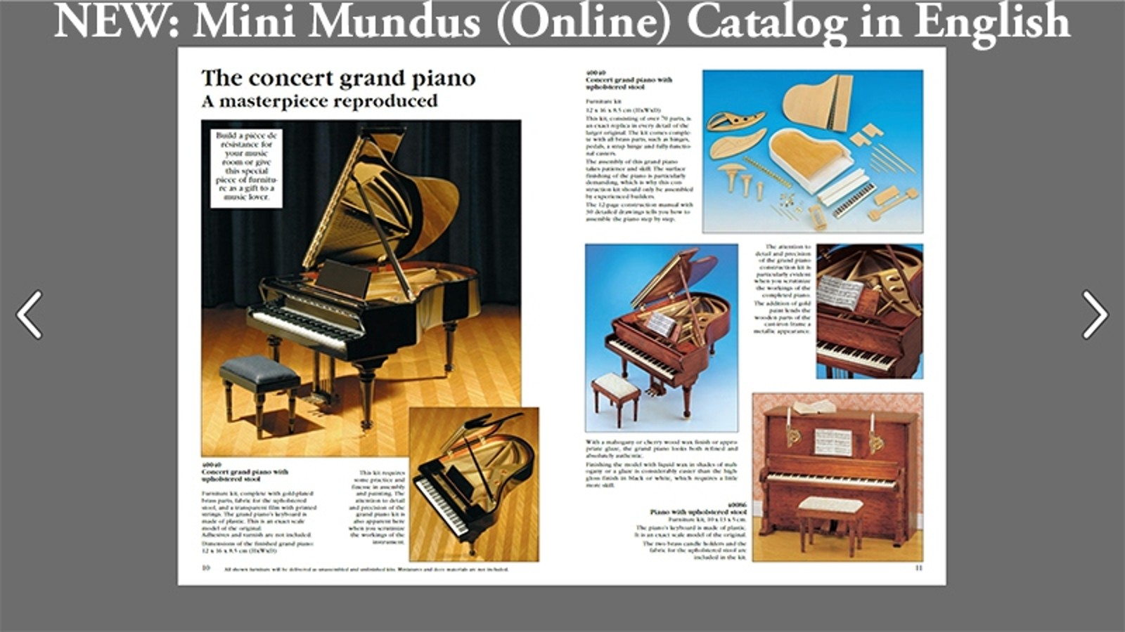 Click here for the new online catalog in ENGLISH!