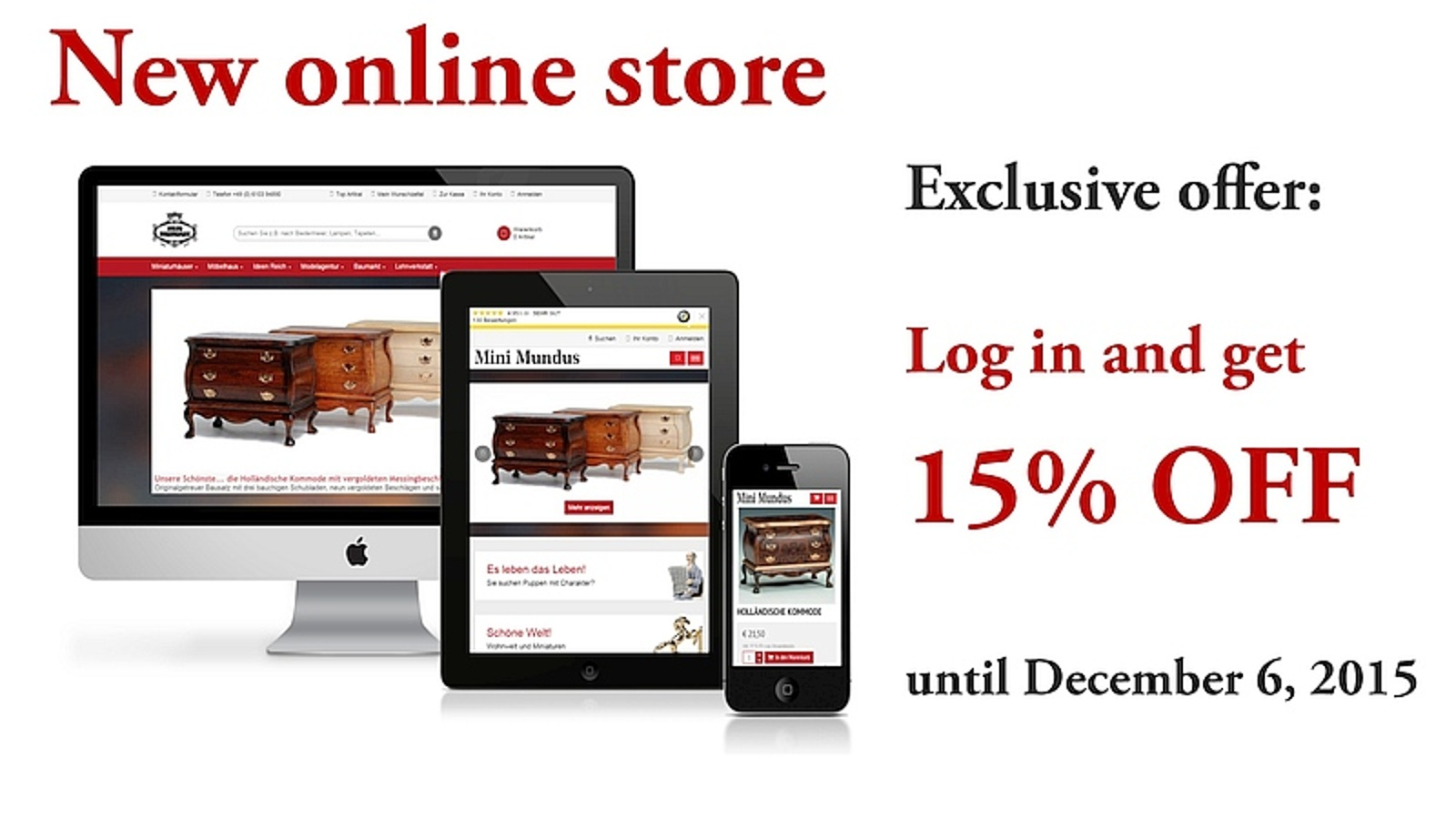 Our new online store is as mobile as you!