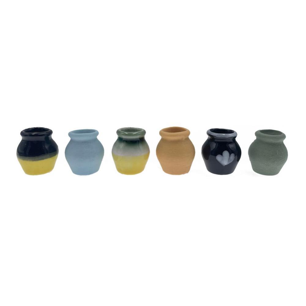 Vase rund, 6 Stück